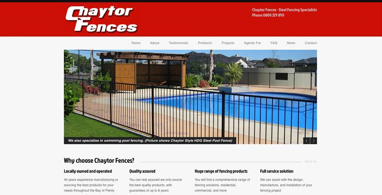 Chaytor Fences Website Design