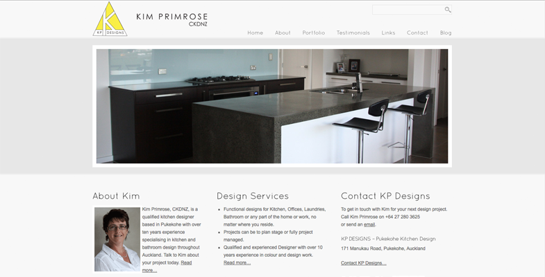 KP Designs Website
