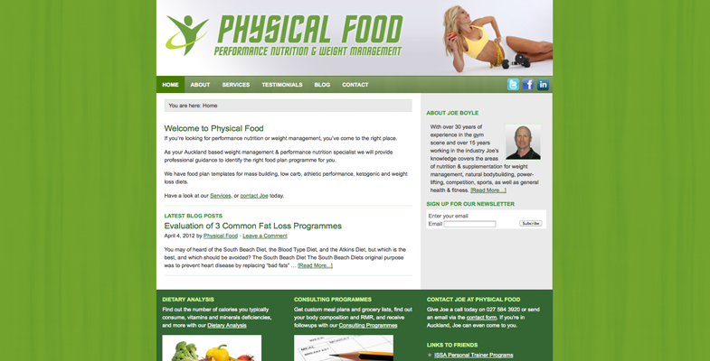 Physical Food Website